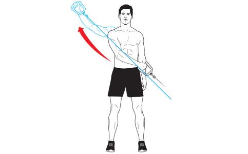 Cable Diagonal Raise Tubing Sword Raise A Shoulder